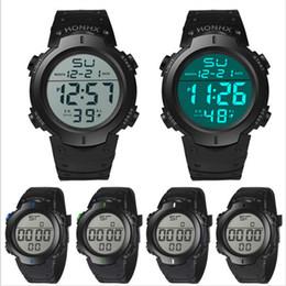 resistente al agua deporte relojes mujeres Rebajas Moda Hombres Mujeres Reloj Deportivo Unisex Electronic LED Reloj Digital Cronómetro Resistente Al Agua Estudiantes Relojes de Regalo