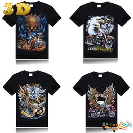 Wholesale El Guitar - 100% Cotton Pirates shirt 3D Ghost Skull Guitar Pirate Winter Black Clothing Fall Cute Shirt Assassins Creed Short Sleeve Shirts
