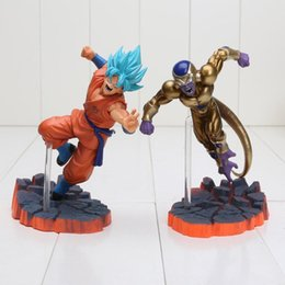 Wholesale Red Abs - 2pcs lot Dragon Ball Z Super Saiyan Goku Son Freeza Ultimate Form Combat Edition PVC Action Figure Collectible Toys