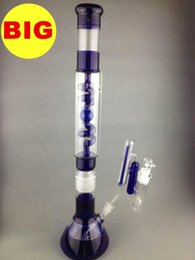 Wholesale Great Big - Big COIL CONDENSER BONG 036 2016 new design three parts beaker water pipes 56cm glass smoking pipes with great ash catcher