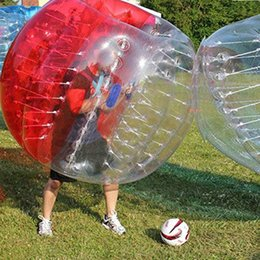 Wholesale Inflatable Human Zorb Balls - 4pcs lot 1.5m PVC zorb ball inflatable human hamster bubble soccer zorbing outdoors sports Free shipping
