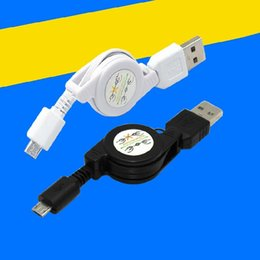 Wholesale Micro Usb Cable Long - Wholesale-retractable micro usb cable cabo 72cm long phone lines Suitable for Android Micro Usb Sync Data Charging Wholesale retail cheap