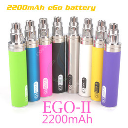 Wholesale E Cigs Mods Batteries Atomizers - Original GS eGo II 2200mAh battery KGO ONE WEEK 2200 mAh huge capacity Power mods vapor mod atomizers vape pen e cigs cigarettes battery DHL