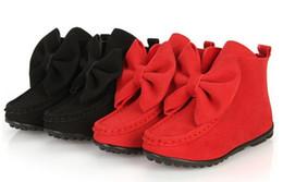 2019 zapatos de niña de goma de moda 2015 AutumnSpring Girl's Bowknot Boots Flat Children Princess Shoes Caucho Inferior Fashion Martin boots Kids Casual Boots Kids Calzado breve rebajas zapatos de niña de goma de moda