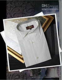 Wholesale Shirts Size 44 - New Style Popular White Groom Shirts Wear Men Wedding Prom Formal Shirt Bridegroom Man Shirt (Size: 37--46 )