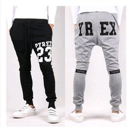 Wholesale Dance Jogging - New 2015 Mens Joggers Fashion Pyrex Harem Pants Trousers Hip Hop Slim Fit Skinny Sweatpants Men for Jogging Dance