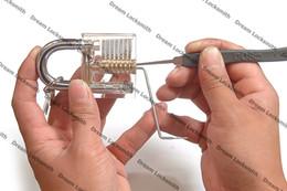 utensile chiave tubolare Sconti Attrezzi del fabbro del fabbro del nuovo di arrivo trasparente della cutaway di pratica con GOSO Advanced 9 pezzi / set degli attrezzi del fabbro