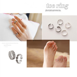 Wholesale Vintage Jewelry Wholesale Europe - 12pcs High Quality Vintage Retro Antique Silver Toe Ring Alloy Flower Carved Adjustable Finger Ring Europe Ring Women Jewelry Free Shipping