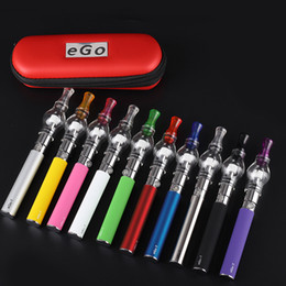 Wholesale e t glasses - Ego Glass globe tank for wax dry herb atomizer starter kit Electronic cigarette M6 EGO-T kit Zipper case battery Clearomizer E-cigarette dhl