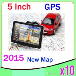 Wholesale Auto Canada - 5 Inch Auto Car GPS Navigation Sat Nav 4GB New Map WinCE 6.0 FM Mp3 Mp4 10PCS ZY-DH-02