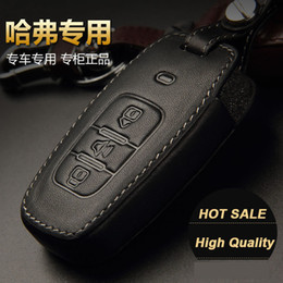 Wholesale Hover H5 - New Genuine leather remote key fob shell car key cover case for Great Wall Haval Hover H1 H3 H5 H8 H9 H6
