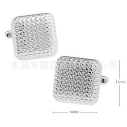 Wholesale French Cuff Clothing - Dongguan clothing popular spot cufflinks mixed approval ancient square French cufflinks embossed CZ