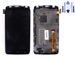 Wholesale One X Screen Lcd - Wholesale-For HTC One X S720e LCD Display Digitizer Touch Screen+ frame housing Assembly 1PCS free shipping china post with tool