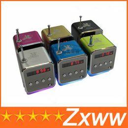 Wholesale Digital Player Amplifier - Newest TD-V26 Mini Portable Speaker Micro SD TF Card USB Disk MP3 Music Player Amplifier FM Radio digital speaker LCD Display HZ 675