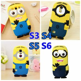 Wholesale Despicable S4 Case - Wholesale-3D Cartoon Despicable Me 2 Minions Case Minion Yellow Silicone Cover for Samsung Galaxy S6 G920 S3 i9300 S4 i9500 S5 i9600