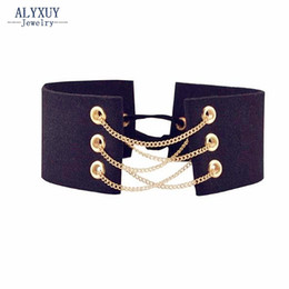 Wholesale Leather Lace Collar - Wholesale- Fashion jewelry DIY Leather Lace collar necklace mix color gift for women girl N1930