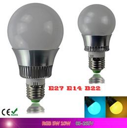 Wholesale Remote Control Bulb 16 Color - New arrival LED RGB globe Bulb E27 5W 10W Remote Control Color Changing LED Wall Light Bulb RGB 16 Color Lamp AC 110V-240VV
