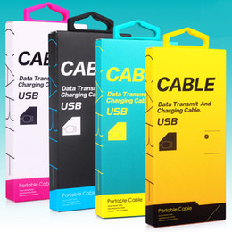 Wholesale Plastic Suit Bags - New Style Pretty Colorful USB Cable Universal Retail Packaging Box Bag For 3FT-5FT USB Cables Data Sync Charger 500pcs lot Free DHL KJ-295