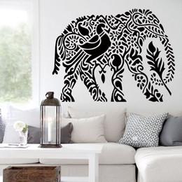 Wholesale Modern Elephant Wall Art - Art Wall Sticker home decoration PVC cute elephant wall sticker waterproof vinyl house decor animal decals for living room bedroom
