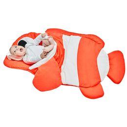 Wholesale Baby Pram Bags - Wholesale- 2017 winter newborn prams bed swaddle blanket Shark sleeping bag wrap bedding cute baby sleeping bag baby