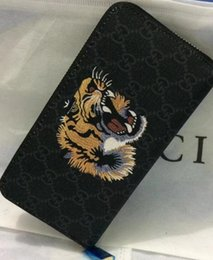 Wholesale Dress Leopard Patchwork - 2017 G&G new men and women Europe and the United States wallet long leather big buckle printed leather cashmere card mobile phone wallet