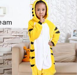 Wholesale flannel pajamas movie - Baby Boys Girls Pajamas Autumn Winter Children Flannel Animal funny animal Stitch Tiger Pajamas Kid Onesie Sleepwear KD-006