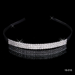 Wholesale Crown Rhinestones - 2015 Cheap Free Shipping Shining Crowns Wedding Bridal Tiaras 5.51 inch*0.39 inch Fashion Crowns Bride Jewelry 18018