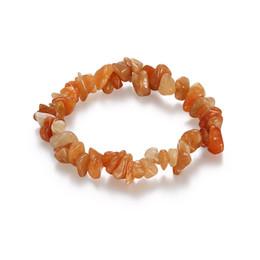 Wholesale Yellow Agate Gemstone Beads - 20Pcs jewelry Lot pretty Various Gemstone Bead Bracelet Bangle Stretchy Yellow Agate Gemstone stone Bracelets fit Girls