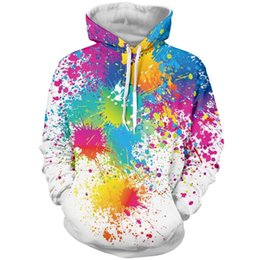 Wholesale Hoodies Jacket Fashion - Fashion hoodies for men 3D painting hoodies white Sweatshirts long sleeve Pullovers S-6XL casual jacket tracksuit men LMS01 RF
