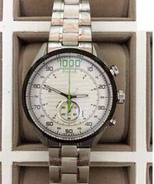 homens originais relógios de marca Desconto Luxo Homens Cheio de Aço Inoxidável Assista Caixa Original Papers Top Marcas de Alta Qualidade Tags 1000 Cronógrafo Mens Sports Quartz Chronograph Relógios