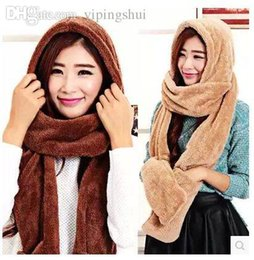 Wholesale Hat Scarf Conjoined Sets - Wholesale-Winter Women Fashion Head Scarf, Hat & Glove Conjoined Sets Christmas Gift 0008