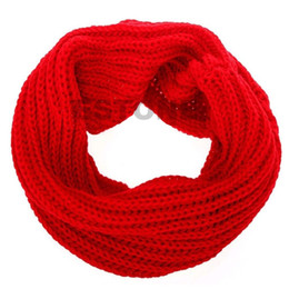 Wholesale Circles Scarf - Wholesale- Fashion Women Winter Warm Single Circle Knitting Scarf Knit Neck Scarf