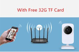 Wholesale Ip Camera Sd Card Cctv - Newest HD 720P WIFI IP Camera CCTV IR Wireless Security Alarm Webcam with 1 Free 32G SD Card