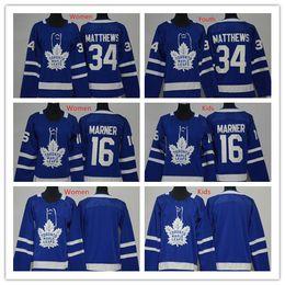 Wholesale Boys 16 - 2018 2017 Kids Womens Toronto Maple Leafs Jersey Blue Youth 34 Auston Matthews 16 Mitch Marner Jersey Ladies Matthews Boys Marner Jerseys