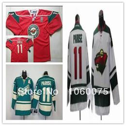 Wholesale Cheap Wild Hockey Jerseys - 2015 Cheap Minnesota Wild 11 # Zach Parise Jersey Red  Green White Youth ice hockey jersey Wholesale sale