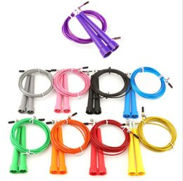 Wholesale High Quality Jump Rope - High speed Steel Wire Skipping Adjustable Jump Rope Crossfit Fitnesss Equipment Brand New Good Quality Free Shipping