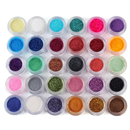 Wholesale Loose Cosmetic Glitter - 30 Colors in 1 Set Makeup Loose Powder Glitter Eyeshadow Bling Bright Makeup For Pro Face Cosmetic