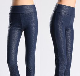 Wholesale Lace Pu Leggings - FREE SHIPPING New BLUEGRANT Fashion Sexy Hot Wholesale Retail Quality Legging Anti-Pilling LACE PU Leggings OEM &ODM