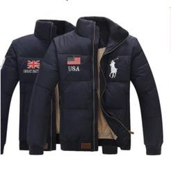 Wholesale Men Ribs - Fall-2018 POLO FASHION men winter jacket thick cotton-padded jacket winter coat outwear free shipping M-XXL