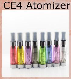 Wholesale E Cig Ce4 Tanks - CE4 Atomizer 1.6ml Electronic Cigarette CE4 Cleaomizer vapore tank e-cig 8 colors 510 thread for ego evod battery AT010