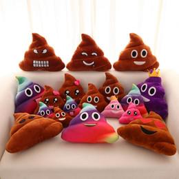 Wholesale Handmade Crochet Gifts - Popular Emoji Pliiow Shit Shape Stuffed Plush Toy Cushion Funny Soft Lovely Pliiows For Christmas Gift 3 3xc B