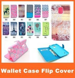 Wholesale Galaxy S3 Flip Case Stand - For Samsung Galaxy Note 4 3 S5 Painting Print Wallet Flip Leather Case for S5 Mini S4 S4 Mini S3 S3 Mini with Credit Card Slot Stand Holder