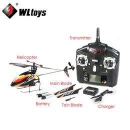Wholesale Mini Helicopter Batteries - Wholesale-Free shipping WL Toys V911 2.4G 4CH Single Blade Gyro RC MINI Outdoor Helicopter With LCD and 2 Batteries,dropship