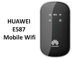 Wholesale N Dc - Free shipping UNLOCKED HUAWEI E587 42Mbps 3G 4G Wireless Router 802.11b g n DC-HSPA+ Mobile WiFi Router