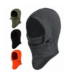 Wholesale Mask Winter Warm - High quality Unisex Outdoor Sports Caps CS Warm Windproof Hats Masks Scarf Skiing Face Protection Thicken Ski Cycling Caps 6 Colors