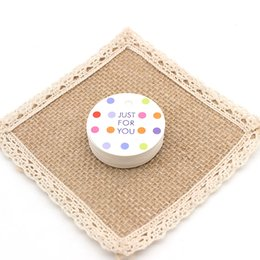 Wholesale Print Shipping Labels - DONYAMY 'Just for You' Round Printed Paper Hangtags with Strings, Gift Cardboard Hang Tags, Price Label Tags, 4CM, Free Shipping