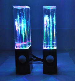 Wholesale Dancing Water Show Speakers - Wireless bluetooth Music Fountain Dancing Water Speakers smart bluetooth Speakers USB Dancing Speaker with LED light-show magic speaker