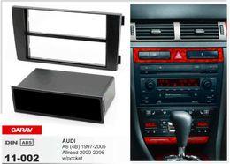 Kit de montage radio en Ligne-CARAV11-002 installation radio installation de garniture stéréo 1-DIN kit de tableau de bord pour AUDI A6 (4B) 1997-2005, Allroad w / pocket