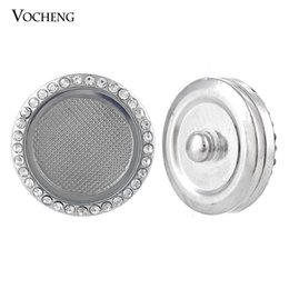 Wholesale Glass Inlays - Vocheng Noosa Round Glass Memory Locket Jewelry Inlaid Crystal 18mm Custom Snap Button (Vn-906)