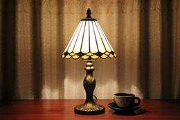 Wholesale Antique Glass Table Lamps - Wholesale-EMS Free Ship Antique Tiffany Style Table Lamps Light Base Fixture Mediterranean Sea Style Bedroom Decor E14 110V-240V
